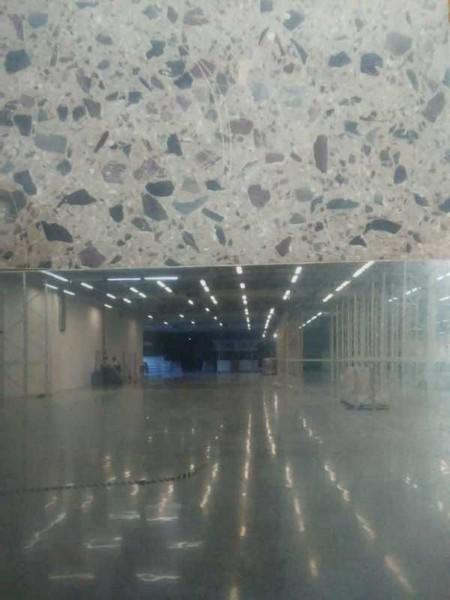 Lapidação piso de concreto
