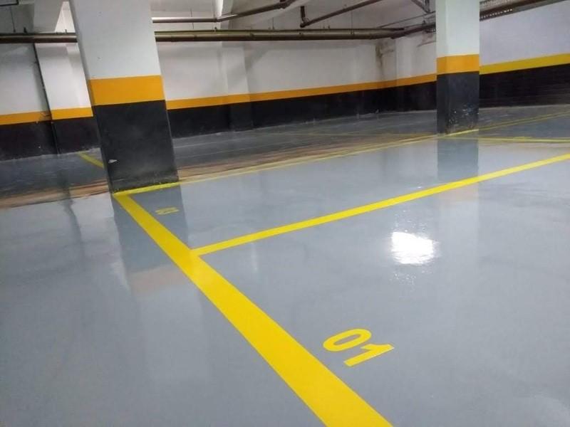 Pintura epóxi para estacionamento