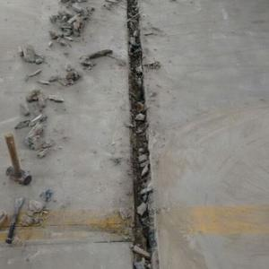 Tratamento de trincas em piso de concreto